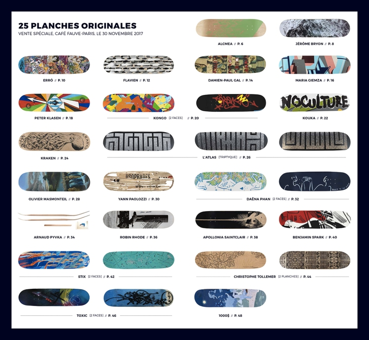 25 PLANCHES ORIGINALES