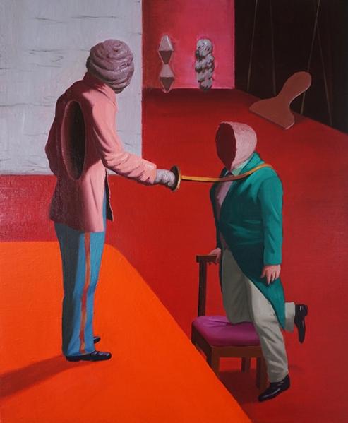 ADOUBEMENT, 60x73cm, huile sur toile, 2016