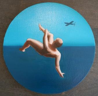 Dedalus, 40x40cm, huile sur toile, 2016