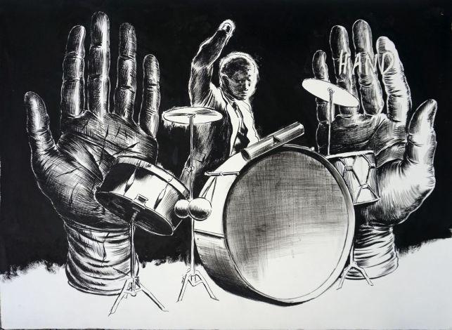 Handless drummer