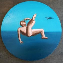 Icar, 40x40cm huile sur toile, 2016