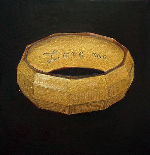 Love me, 10x10cm, encre de chine, aquarelle et crayon sur papier arches, 2016